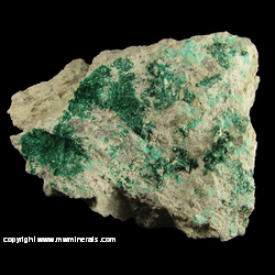 Minerals Specimen: Brochantite from Morenci Mine, Greenlee Co., Arizona