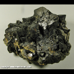 Minerals Specimen: Marcasite on Sphalerite from Plum Run Quarry, Adams Co., Ohio