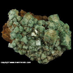 Mineral Specimen: Fluorite with minor Quartz from Heights Mine, Westgate, Weardale, North Pennines, Co. Durham, England