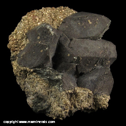 Minerals Specimen: Tennanite, Pyrite from Tsumeb, Namibia