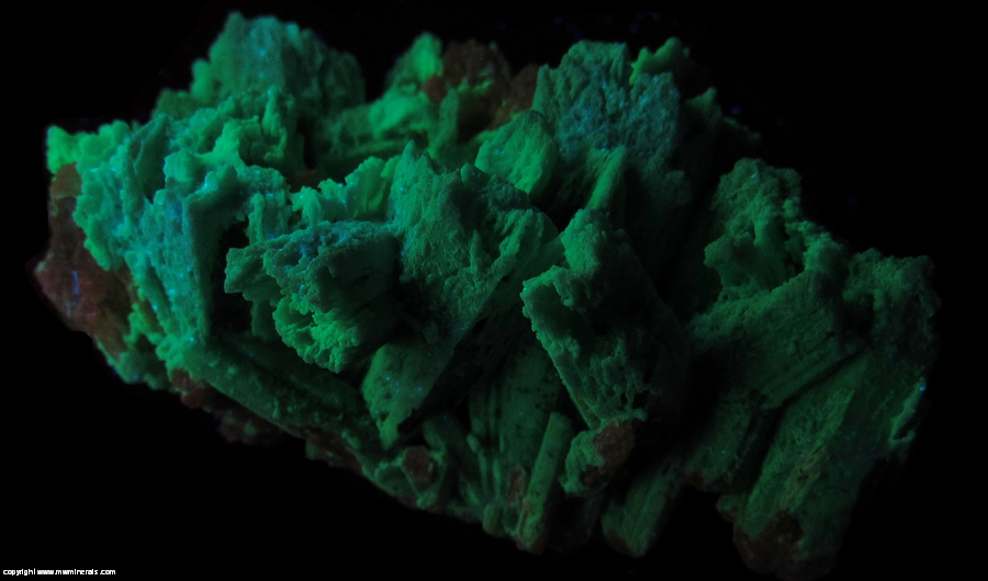 Fluorescent Mineral Specimen: Plumbogummite Pseduomorph after Pyromorphite from Yangshuo Mine, Yangshuo Co., Guilin Pref., Guangxi Zhuang Autonomous Region, China