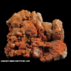 Minerals Specimen: Mimetite on Quartz Conglomerate from Red Cloud Mine, La Paz Co., Arizona