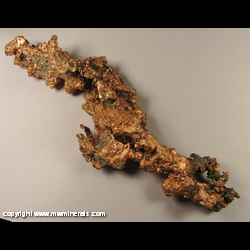 Minerals Specimen: Copper Crystals from Centennial Mine, Centennial, Houghton Co., Michigan
