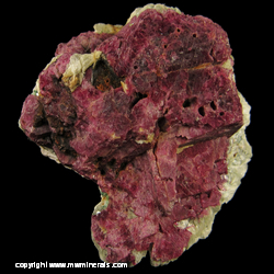 Minerals Specimen: Ruby Corundum, Mavinite from Mysore District, Karnataka, India