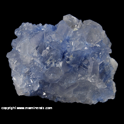 Minerals Specimen: Dumortierite Included in Quartz from Vaca Morta quarry, Serra da Vereda, Boquira, Bahia, Brazil