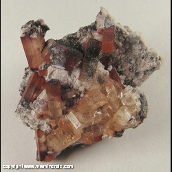 Mineral Specimen: Topaz with Included Rutile Sprinkled with Hematite from Tepetate, Mun. de Villa de Arriaga, San Luis Potosi, Mexico