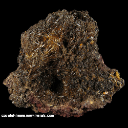 Mineral Specimen: Endlichite (Arsenatian Vanadinite), Descloizite, Wulfenite from Erupcion Mine (Ahumada Mine), Sierra de Los Lamentos, Mun. de Ahumada, Chihuahua, Mexico