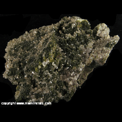 Mineral Specimen: Quartz and Epidote from Centennial Mine, Centennial, Houghton Co., Michigan
