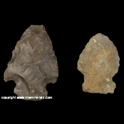 Mineral Specimen: Chert Arrowheads (Potowatomi) from Near Lake City, Missaukee County, Michigan