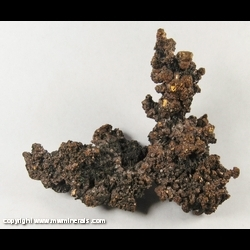 Mineral Specimen: Copper Crystals from Cheng Men Shan  Deposit, Jiurui Mining District, Jiujiang County, Jiujiang Prefecture, Jiangxi Province, China
