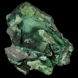Mineral Specimen: Malachite, Hetrogenite from Katanga, Dem. Rep. of Congo