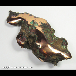 Mineral Specimen: Polshed Float Copper with Silver (Halbreed) from Ontonagon Co., Michigan