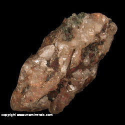 Minerals Specimen: Copper Included in Calcite, Epidote, Quartz, Copper from Centennial Mine, Centennial, Houghton Co., Michigan