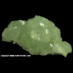 Mineral Specimen: Prehnite with minor Epidote from Goboboseb Mountains, Brandberg Area, Erongo Region, Namibia