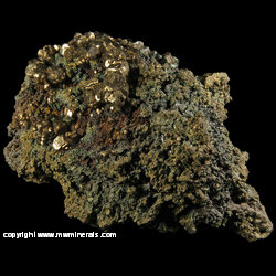 Mineral Specimen: Pyrite, Chalcopyrite, Hematite from Pea Ridge Mine, Sullivan, Washington Co., Missouri