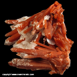 Mineral Specimen: Red Quartz with Secondary Double Terminated Quartz from Vtoroi Sovietsky Mine, Dalnegorsk, Russia