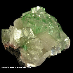 Minerals Specimen: Green Apophyllite, Stilbite from Jalgaon District, Maharashtra, India