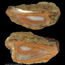 Mineral Specimen: Lake Superior Agate from Brockway Mountain, Keweenaw County, Michigan, USA