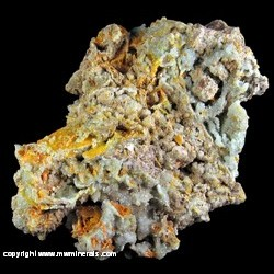Mineral Specimen: Wulfenite, Hemimorphite from 79 Mine, Hayden, Gila Co,  Arizona
