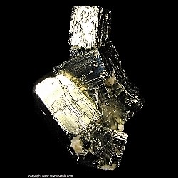 Mineral Specimen: Stacked Pyrite Cubes from La Libertad Mine, Quiruvilca District, Santiago de Chuco Province, La Libertad Department, Peru